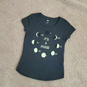 Old Navy Size 8 T Shirt with Phases of the Moon